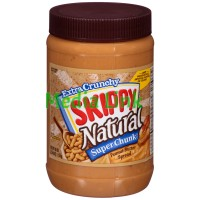 Skippy Super Chunk Extra Crunchy Natural Peanut Butter Spread