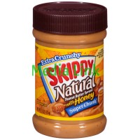 Skippy Super Chunk Extra Crunchy Natural Peanut Butter Spread with Honey
